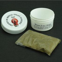 Premium Metal Inlay Powder: Brass – 3 oz.