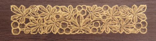Brass metal inlay board