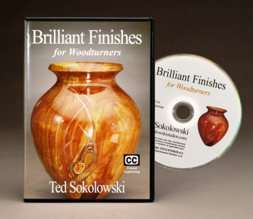 Brilliant Finishes for Woodturners DVD Cover and disc