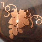 Copper metal inlay grape stopper