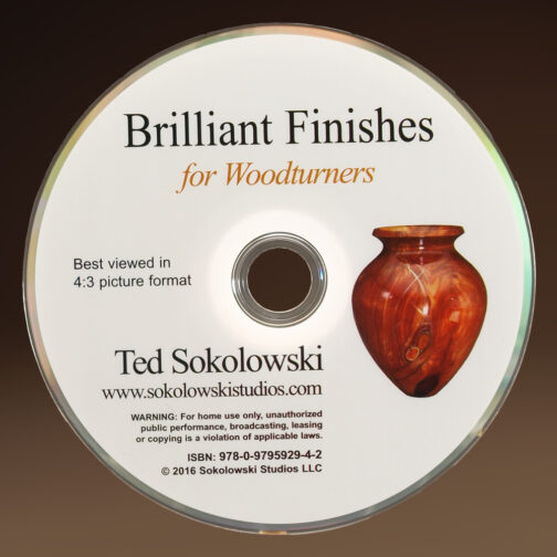 Brilliant Finishes for Woodturners DVD disc