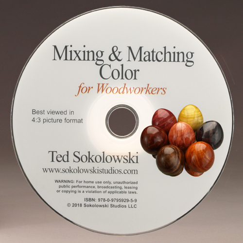 Mixing & Matching Color DVD by Ted Sokolowski disc