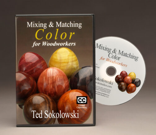 Mixing & Matching Color DVD by Ted Sokolowski Front cover and disc