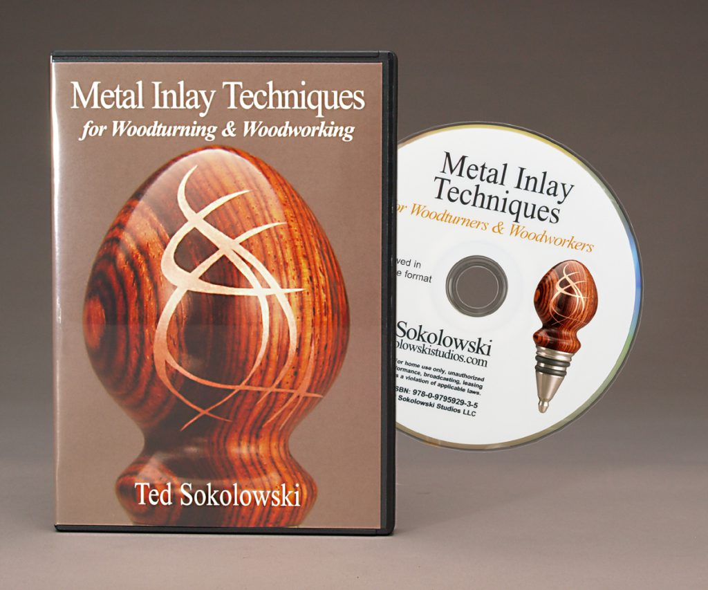 Metal Inlay Techniques for Woodturning and Woodworking DVD - Learn how to inlay metal into voids, cracks, crevices, fissures and other anomalies in wood successfully the first time.