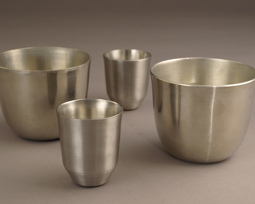 Metal spinning jefferson cups and jiggers