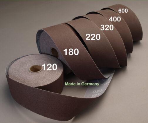 "Klingspor Aluminum Oxide Sandpaper 2"" x 25 yds. Shop Rolls as used in Brilliant Finishes for Woodturners"