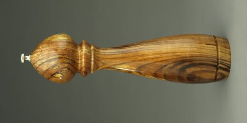 Spalted ash 12 inch peppermill by ted sokolowski
