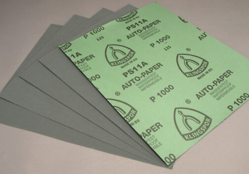 Klingspor Silicon Carbide Wet / Dry Sandpaper sheets 1000 Grit