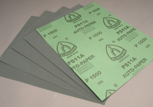 Klingspor Silicon Carbide Wet / Dry Sandpaper sheets 1500 Grit