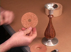 How to Cut the cork protector for the base of the Candlestick