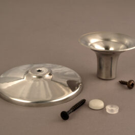 Hand-Spun Pewter Taper Candle Cup and Base Only