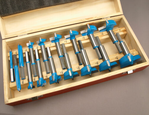 16 pc Carbide forstner bits set in eighths increments