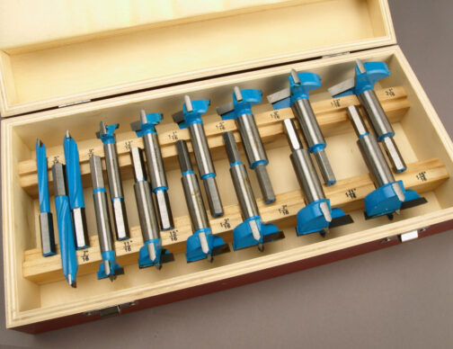 15 pc Carbide forstner bits set in sixteenths increments