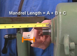 Determining mandrel length for metal spinning a Candlstick on Making Candlesticks