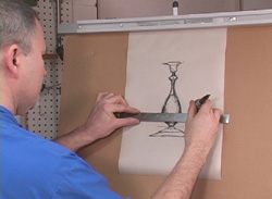 Making Candlesticks Seeing the Curves DVD Measuring the drawing