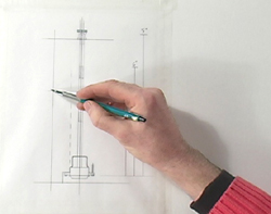 Using the mechanical drawing for an accurate Peppermill design