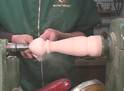 Sanding the 8 inch Peppermill