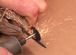 Grinding the Screw Threads on Making Candlesticks and Metal Spinning for beginners