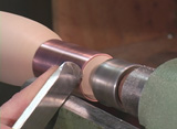Making a tool handle on the lathe for the metal spinning combo tool