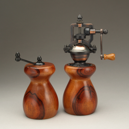 Orange Agate Salt Mill and Peppermill by Ted Sokolowski