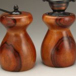 Antique Style Pepper Mill and Salt Mill Set in Orange Agate