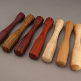 Native wood and Exotic wood Muddlers by Ted Sokolowski