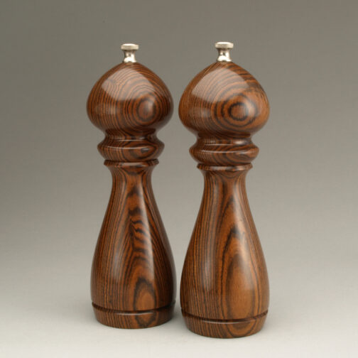 "8"" traditional salt and peppermill in Bocote by Ted Sokolowski"