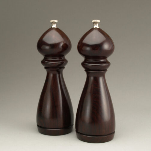 """8"""" traditional salt and peppermill in Cocobolo by Ted Sokolowski"""