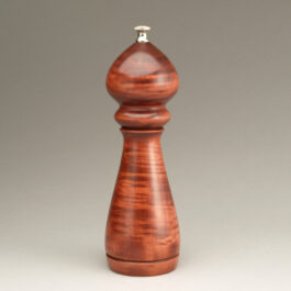 8″ Traditional Peppermill Single – Curly Maple Dyed Rosewood