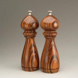 "8"" traditional salt and peppermill in Jobillo by Ted Sokolowski"