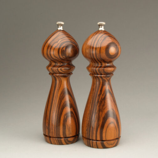 """8"""" traditional salt and peppermill in Jobillo by Ted Sokolowski"""