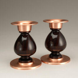 Votive Candlesticks Pair – Cocobolo & Copper