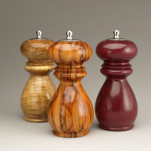 Combination Salt Shaker Peppermills by Ted Sokolowski made in the USA