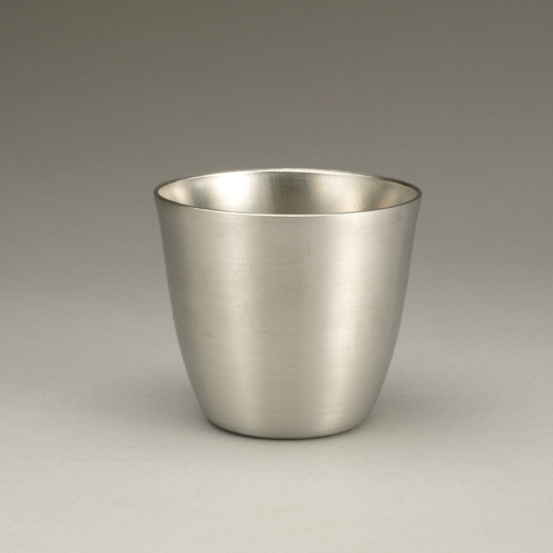 Hand spun Jefferson cup from pewter by ted sokolowski