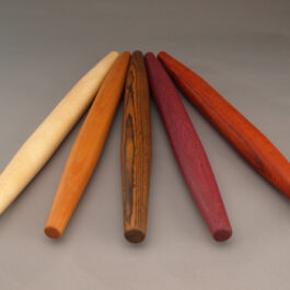 Pastry Pins from Exotic and North American Hardwood
