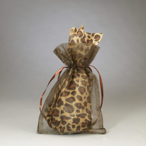FREE See Thru Coffee Colored Organza Wine Stopper Gift Bag With Each Stopper