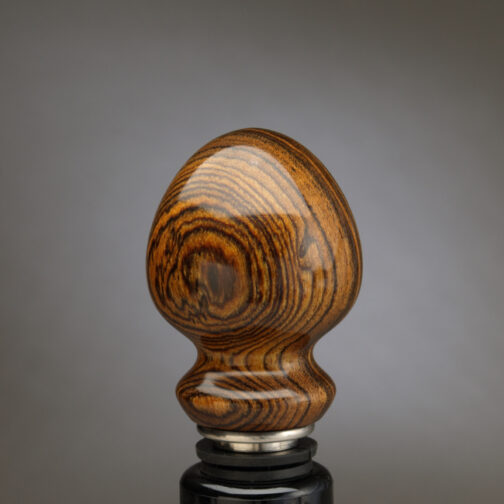 Bocote Stainless Steel Stopper made by Ted Sokolowski