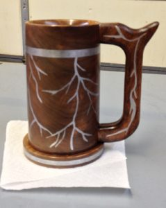 Mug with Metal Inlay by David Philips