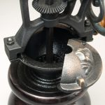 Antique Style Coffee Grinder in Ebonized Curly Maple