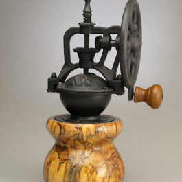 Antique Style Coffee Grinder in Spalted Maple 1