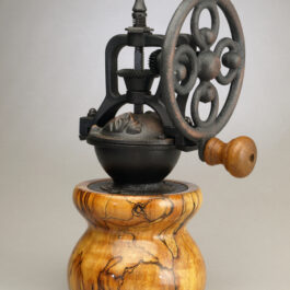 Antique Style Coffee Grinder in Spalted Maple 2