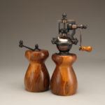 Antique Style Pepper Mill and Salt Mill Set in Cebil