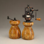 Antique Style Pepper Mill and Salt Mill Set in Spalted Ash