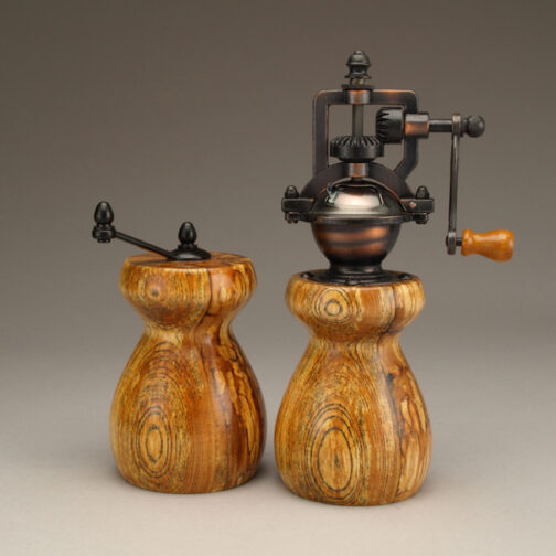 Spalted Ash Salt Mill and Peppermill set by Ted Sokolowski