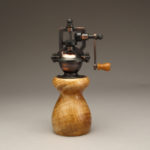 Antique Style Pepper Mill in Curly Maple