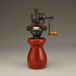 Antique Style Pepper Mill in Redheart
