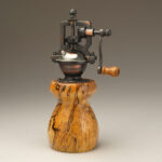 Antique Style Pepper Mill in Spalted Maple
