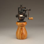 Antique Style Pepper Mill in Tulipwood w/Cu