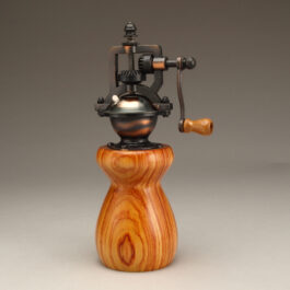 Antique Style Pepper Mill in Tulipwood