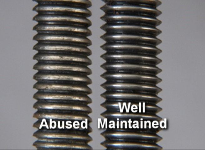 Abused and well maintained Lathe Tailstock Quill Screw